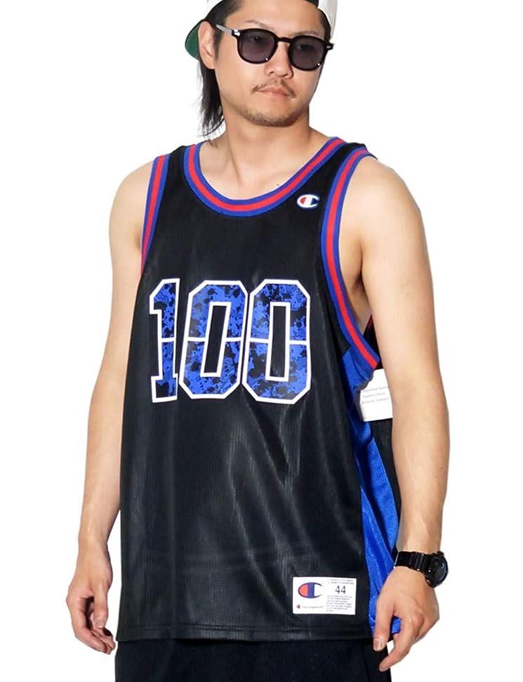 解釈的保持するレールChampion(チャンピオン) タンクトップ バスケシャツ USAモデル T8831G ブラック [並行輸入品]