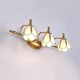 Lámpara de pared europea con lámpara de cristal de la pared retro de la pared LED de la pared de la pared del espejo interior para el cuarto de baño Dormitorio Dormitorio decoración de la noche