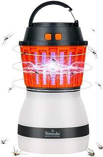 蚊取り器 Homecube 電撃殺虫器 捕虫器 殺虫ライト 誘虫灯 LED キャンプライト 蚊取りと照明両用 IP67防水機能 UV光源誘引式 無害 静か 赤ちゃんやペットにも安心 夏 台所 居間 オフィス 庭などに適用 省エネ