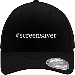 #screensaver - Adult Men's Hashtag Flexfit Baseball Hat Cap