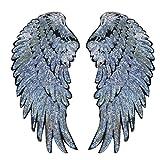 Pailletten Aufnäher Bügelbild Aufbügler Bügeleisen auf Patches Applikation Engel Flügel Muster...