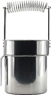 MEGAUK Nettoyeur de pinceaux en acier inoxydable - Double paroi - Avec réservoir de nettoyage - Filtre amovible - Support ...