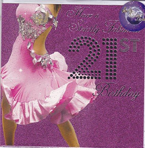 21ste verjaardagskaart ~ Strikt komen Dansen ontwerp