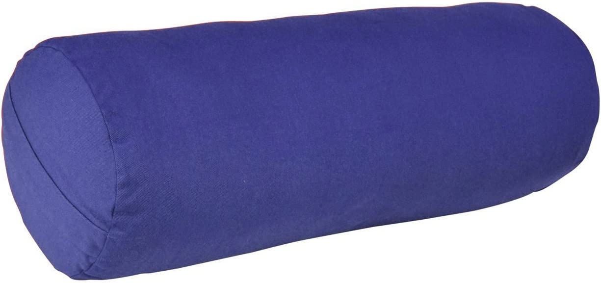 YogaAccessories MAX Support Deluxe Round Cotton Yoga Bolster, Blue : Yoga Foam Wedges : Sports & Outdoors