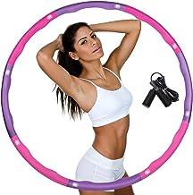 DUTISON Hoelahoep voor gewichtsvermindering, banden met schuimrubberen gewichten, instelbaar, breedte 48-88 cm, verzwaarde...