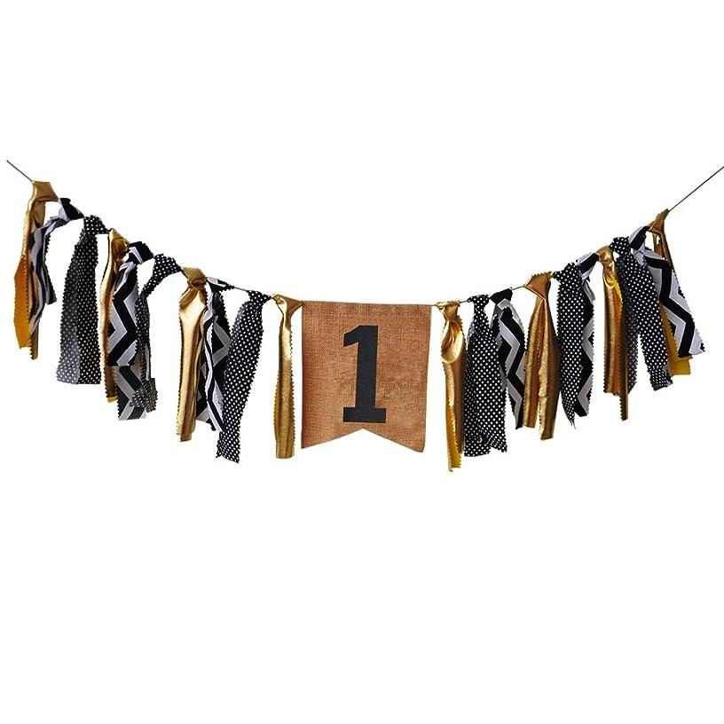 Handmade 1st Birthday Decorations - First Birthday High Chair Banner - One Birthday Burlap Highchair Banner for Baby Boy