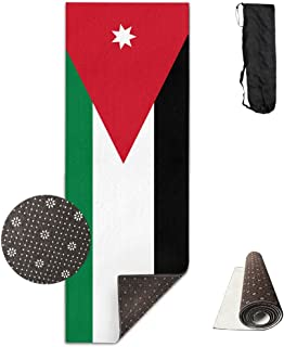 Fitness All Over Printed Yoga Mat Fashion Flag Of Jordan Non Slip Eco-friendly Anti-Tear Floor Pilates 180x61cm