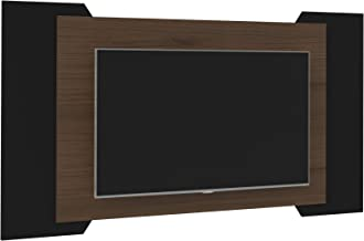 Artely Chicago Wall Panel, Walnut/Black, 87 x 179 x 4.5 cm