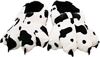 Wishpets Stuffed Animal Slippers - Soft Plush Toy Slim Slippers for Kids and Adults, Dalmatian Paw