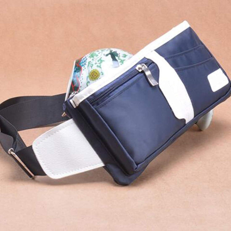 Sturdy West Handbag West Pouch Body Handbag Motion Pocket Unisex Dual Super Lightweight. Large Capacity (color   blueee)