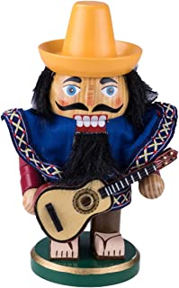 "Cleaver Creation Chubby Mexico Nutcracker | 7.25"" Tall Collectible Wooden Nutcracker 