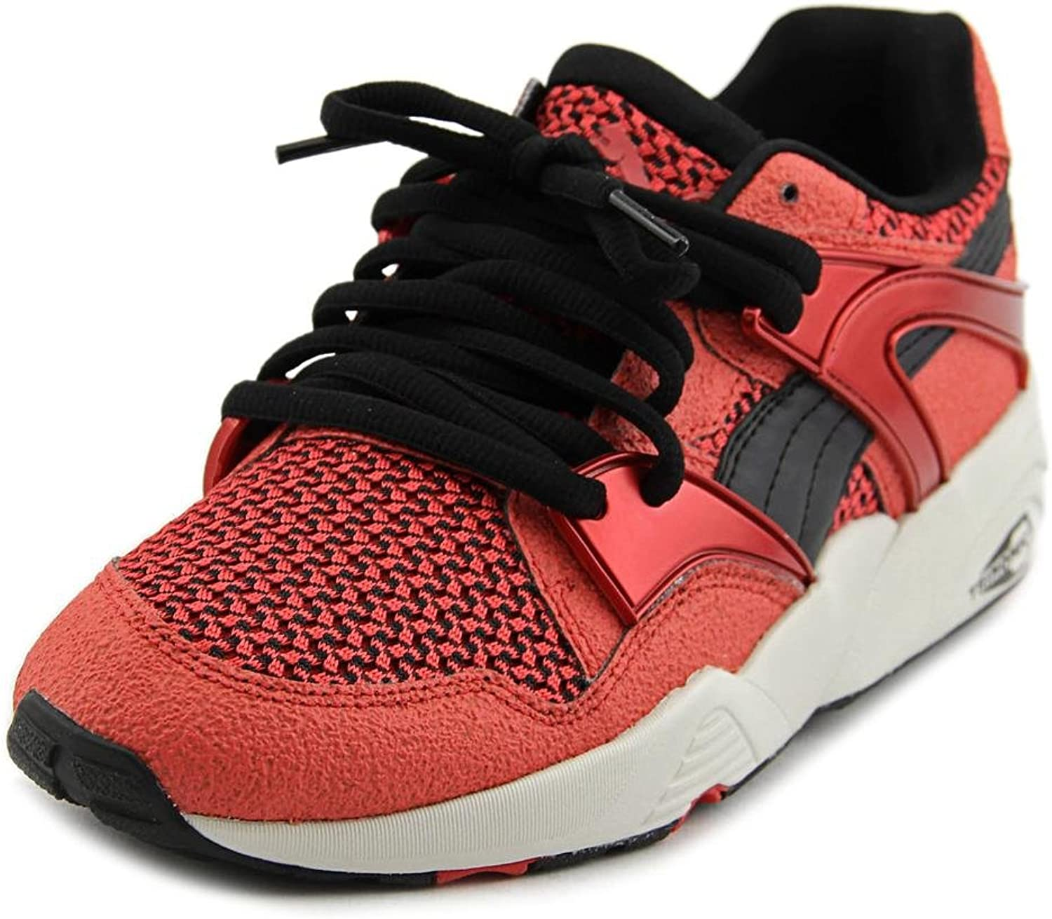 Puma Blaze Knit Mens Red Suede Leather Lace Up Sneakers shoes 11.5