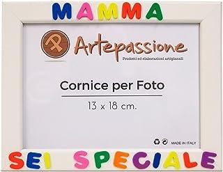 Cornici per foto in legno con la scritta Mamma Sei Speciale, da appoggiare o appendere, misura 13x18 cm Bianca. Ideale per...