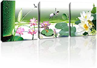Canvas Wall Art for Bathroom Lotus Flower Wall Decor Natural Natural Landscape Walll Art Picture Still Life Bedroom Artwork for Home Walls Ready to Hang 12