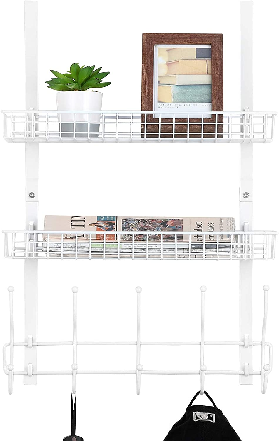 Over The Al sold out. Door Towel Rack Basket Organizer 5 Hooks with New popularity Bathroom