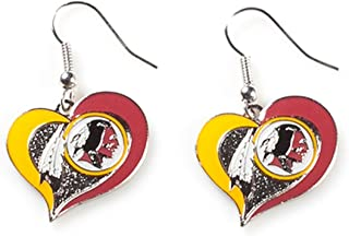 NFL Swirl Heart Earrings