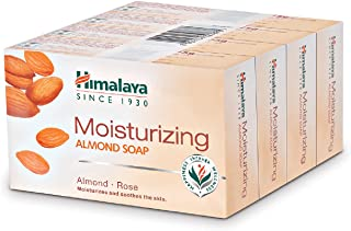 Himalaya Herbals Almond and Rose Soap, 75g (Pack of 4) with Value Pack Save Rs.11