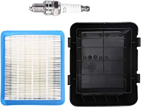 17211-ZL8-023 Air Filter with 17231-Z0L-050 Cleaner Cover for Honda GCV135 GCV160 GCV190 Engine HRB216 HRB217 HRR216 HRS216 HRT216 HRX217 Motor Pressure Washer Push Lawn Mower with Spark Plug