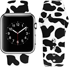 Sponsored Ad - Vozehui Replacement Band Compatible with iWatch Cow Print 41/38/40/42/44/45mm Band, Cute Cow Pattern Print ...