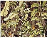 InsideOut Toile en Tissu Motif de la Nature « Bananier » prête à Poser pour décoration d'intérieur ; Collection La Forêt Tendance 2018 (130cm × 150cm)
