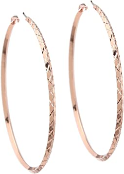 Diamond Cut Hoop Earring