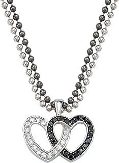 Women's Double Heart Necklace - Nc61505bk
