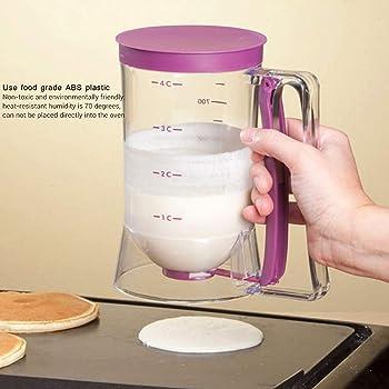 Manuelles Backen Cupcake Pfannkuchen Waffel Pfannkuchen Teigspender mit Messetikett Messbecher Massenspender tolle Geschenkideen Bewinner 900 ml Teigspender