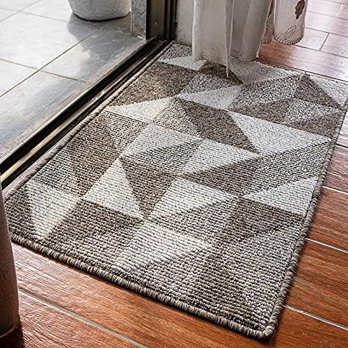 Felpudo de interior para puerta delantera, con diseño simple, antideslizante, con alfombras de goma duraderas para entrada...