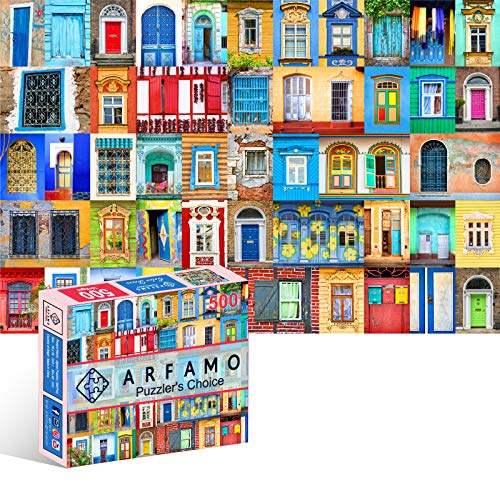 Arfamo Puzzles for Adults 500 Piece Jigsaw Puzzles Challenging 500 Piece Puzzle Educational Family Game DIY Mural Toys Gift for Adults Kids Teens Jigsaw Puzzles(Colored Roses)