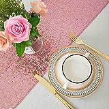 ShinyBeauty Chemin de Table à Paillettes Scintillantes Or Rose pour Mariage/décoration d'événements 30 * 180cm (Peut Choisir Votre Couleur) (Or Rose)