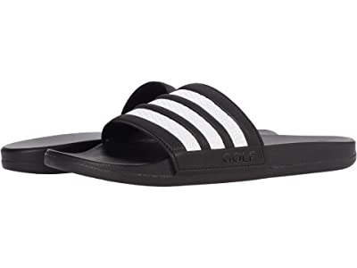 adidas Golf Adilette Comfort Slides Golf (Black/White/Black) Athletic Shoes