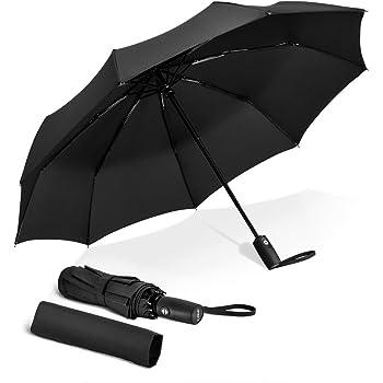 RRP £40 c//w Cover VON HEESEN Folding Umbrella Blue NEW FREE POSTAGE Hard Cas