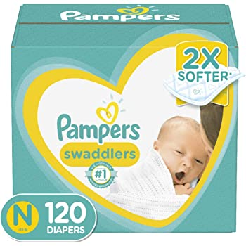 Diapers Newborn/Size 0 (< 10 lb), 120 Count - Pampers Swaddlers Disposable Baby Diapers, Giant Pack