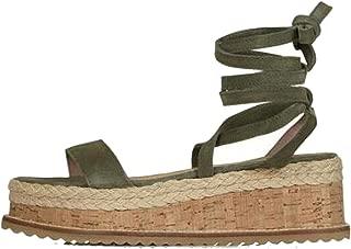 White Wedge Women Open Toe Lace up Women Platform Sandals