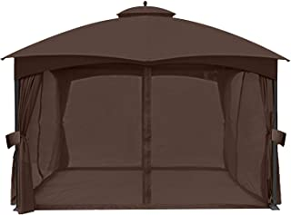 ABCCANOPY Universal 10' x 12' Gazebo Replacement Mosquito Netting Walls (Brown)
