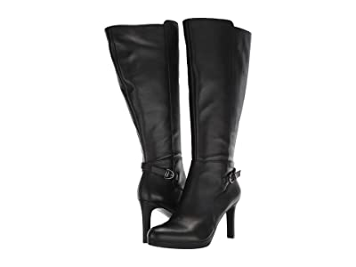 Naturalizer Tai Wide Calf (Black Leather) Women