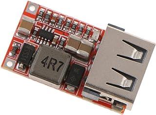 Fenteer 降圧モジュール 6-24V 12V 24V to 5V ステップダウン 車 スマホ USB充電器