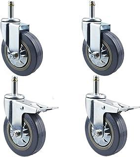 M11 stuurstang voor etentrolley, 4 inch met rem, stil, industrieel transport van rubber, M15, voor ziekenhuis, hotel