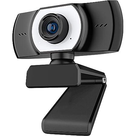 ieGeek Webcam per PC con Microfono con Cancellazione del Rumore, Webcam USB Full HD 1080P per Videochiamate, Conferenze, Streaming, Registrazione, Rotazione a 360 Gradi, Collega e usa