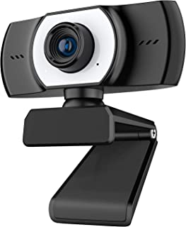 ieGeek 1080P Webcam with Microphone, FHD Live Streaming Camera, USB Webcam w/Mic for Computer PC Desktop Laptop, 90° Wide ...