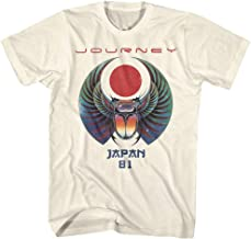 Journey Rock Band Music Group Scarab Beetle Logo Japan 1981 Adult T-Shirt Tee