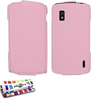 "MUZZANO 折叠手机套带"" Open 翻盖"" - 搭扣适用于 Lg Nexus 4 粉红色"