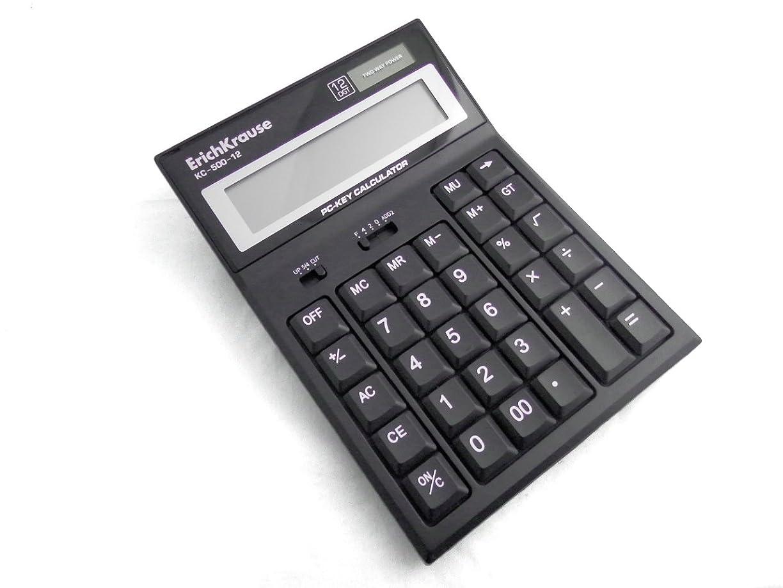 勇気生息地文字ErichKrause エリッククラウス 12桁 計算機【 PCキーカリキュレーター】
