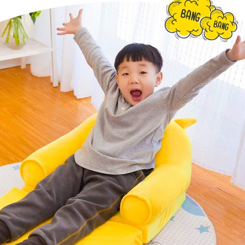 Olpchee Plush Foldable Childrens Sofa Backrest Chair Cute Cartoon Animal Sweet Seats Bean Bag Armchair for Playroom Bedroom Owl