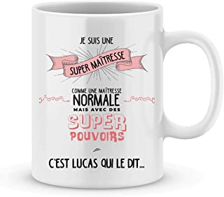 Cadeau maîtresse à personnaliser avec le prénom de votre enfant - Mug pour maîtresse personnalisé - cadeau maîtresse pour ...