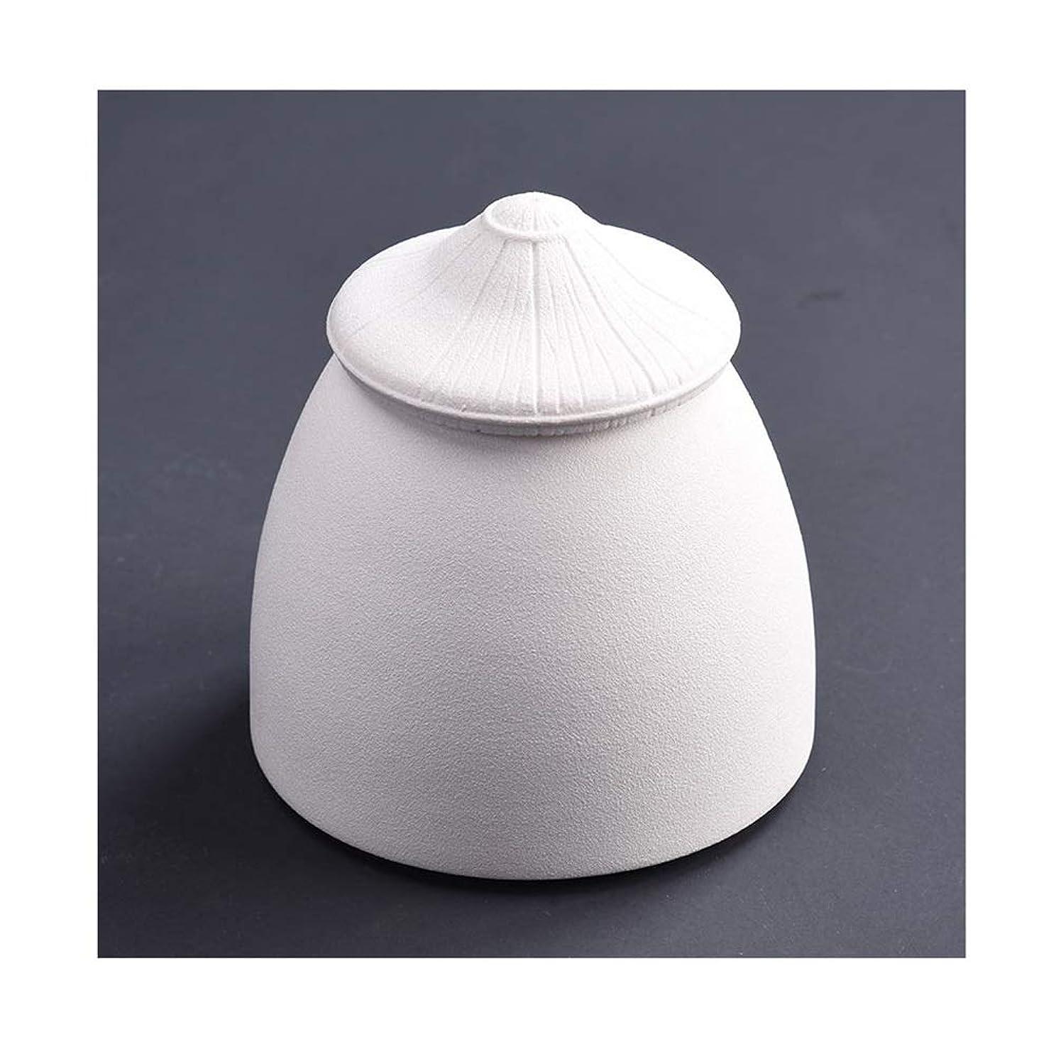 大騒ぎ提出するわずらわしい骨壺 ミニ骨壷火葬大人の子供の灰の貯蔵タンクのセラミック材料は、人間の灰の少量のための葬儀のお土産を密封 (Color : White)