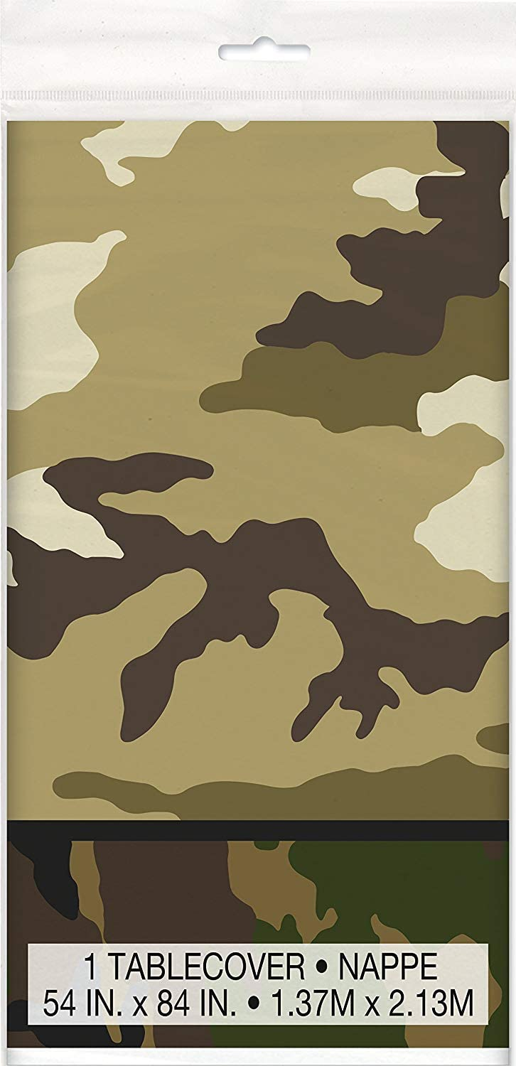 CAMOUFLAGE birthday party plastic TABLE COVER 1 tablecloth military camo army