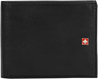 Swiss Military Black Men's Wallet (PW01))