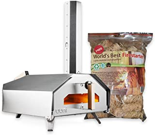 Uuni (Ooni) Pro Pizza Oven - The First Quad Fueled Pizza Oven - with Free Firestarters (World's Best Firestarters)