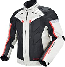M Red Almencla Mens Motorcycle Jacket Racing Protective Gear Safety Clothing Full Body Protective Gear Armor Moto Clothing M-XXXL